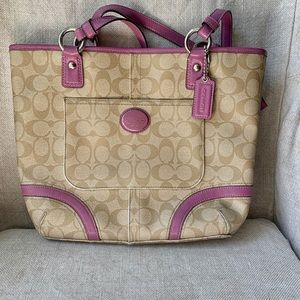 AUTHENTIC Coach Peyton Heritage Tote/Shoulder Bag